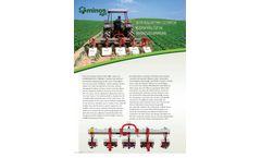 Minos Agri - Inter Row Rotary Cultivator - Brochure