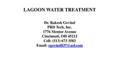 Lagoon Water Treatment Presentation Brochure