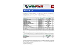WINFAB - Model 4X4 - High Tenacity Polypropylene Yarns - Brochure