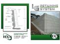 Model LG - Retaining System- Brochure