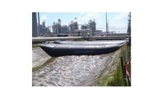 Portable water filled coffer dams for canal repairs