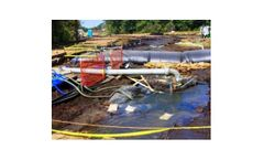 Portable water filled coffer dams for environmental remediation