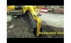 AFT MH 100 Excavator mounted trencher Video