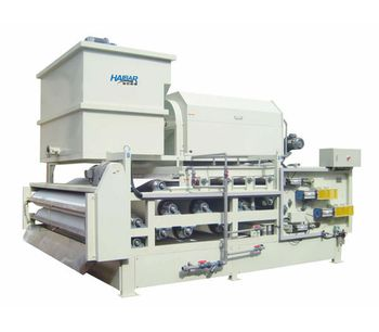 Haibar - Model HTE - Heavy Duty Type Belt Filter Press Combined Rotary Drum Thickener