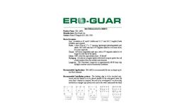 Ero-Guard - Model EG- 1sRD - Short Term Erosion Blankets Brochure