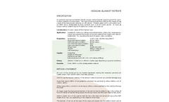 HBRS - Hessian Blanket Retention System - Datasheet