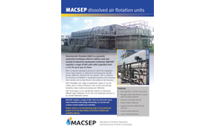 MACSEP - Dissolved Air Flotation Units Brochure
