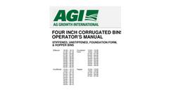 4` Corrugated Flat Bottom Bins- Brochure