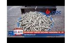 Making Sawdust Pellets with Diesel Engine Wood Pellet Mill - Video