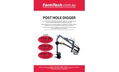 FarmTech - Post Hole Digger - Datasheet