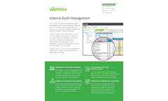 Workiva - Internal Audit Management Software Brochure