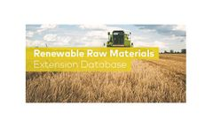 GaBi - Renewable Raw Materials - LCA Database