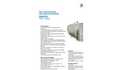 Model REM/DX 1050 - 15000 - Milk Cooling Tank Brochure
