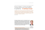 Extractables and Leachables Testing In Pharma - White Paper