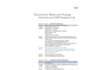 Molecular Biology Services and DNA Sequencing Brochure