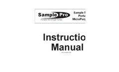 Sample Pro 3/4 Inch Portable MicroPurge Pump - Instruction Manual