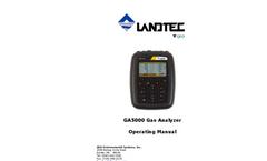Landtec - Model GA5000 - Portable Gas Analyzer - Operating Manual