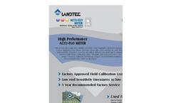 Landtec - Model ACCU-FLO - Thermal Mass Flow Meter - Brochure