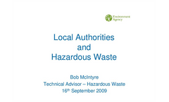 Local authorities and hazarrdous waste regulation Presentations Brochure (PDF 809 KB)