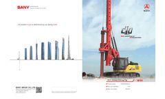 Sany - Model SR155 - C10 Series - Rotary Drilling Rig Brochure