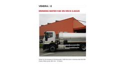 Iveco - Model 9 m3 on - 2-Axles Drinking Water Tanker- Brochure