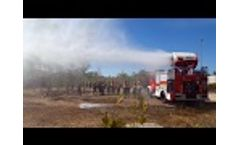 Wildfire test: Firefighting turbine using water mist, Sardinia - EmiControls - Video