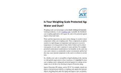 Is Your Weighing Scale Protected Against Water And Dust? Brochure