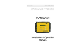 Plantwash - Automatic Parlour Control Box Manual