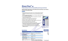 Direct-Pure - Model UP - RO Lab Water Systems with  Dispenser- Brochure