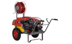 Model OLIVE 100 - Wheelbarrow type Sprayer with Pulley Driven System