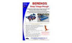 JBI - Deep Tillage Plough - Datasheet