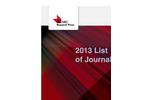 2013 NRC Research Press journals catalogue