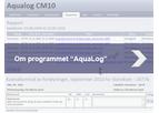 Aqualog - Version CM10 - Digital Aquaculture Logging System Software