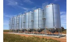 Ahrens - Model Starting at 10 Tonne - Transportable Seed & Feed Silo