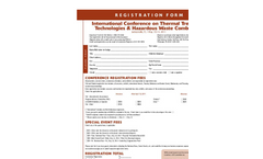 International Conference on Thermal Treatment Technologies and Hazardous Waste Combustors - Registration Form
