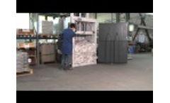 Baling Press HSM V-Press 860 L Video