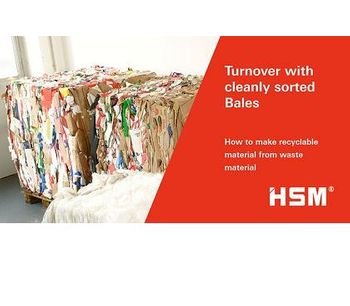 Turnover with cleanly sorted Bales