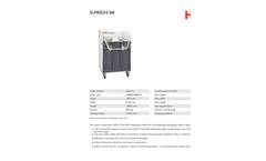 HSM - Model V-Press 60 - Vertical Baling Press - Datasheet
