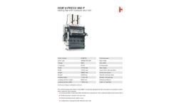 HSM - Model V-Press 860 P - Vertical Baling Press - Datasheet