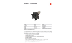 HSM FluidEx 600 Compacting & Recycling Plastic Bottles - Datasheet