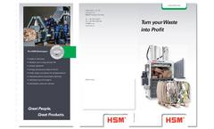 HSM - Baling Presses - Brochure