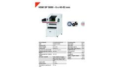 HSM Powerline - Model SP 5080 - 6 x 40-53mm - Shredder Baler Combination - Datasheet