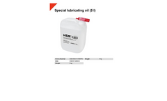 5 l Special Lubricating Oil - Brochure