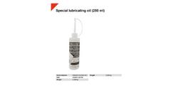 Special Lubricating Oil 250 ml - Datasheet