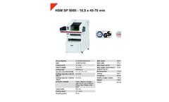 HSM Powerline - Model SP 5080 - 10.5 x 40-76mm - Shredder Baler Combination - Datasheet