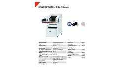 HSM Powerline - Model SP 5080 - 1.9 x 15mm - Shredder Baler Combination - Datasheet