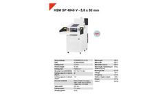 HSM Powerline - Model SP 4040 V - 5.8 x 50mm - Shredder Baler Combination - Datasheet