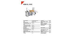 HSM - Model HL 1615 - Horizontal Baling Press - Datasheet