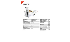 HSM 8 TE Horizontal Baling Presses - Datasheet