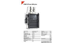 HSM - Model V-Press 860 Plus - Vertical Baling Press - Datasheet